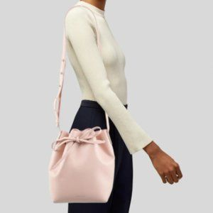 Authentic Mansur Gavriel Pink Leather Bucket Bag